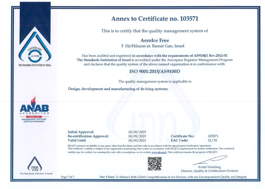 certification aif certifications includ aviation iso management standard space international